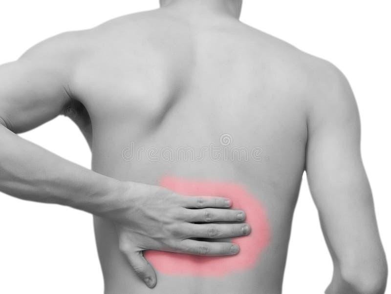 Боль в спине стоковое фото rf