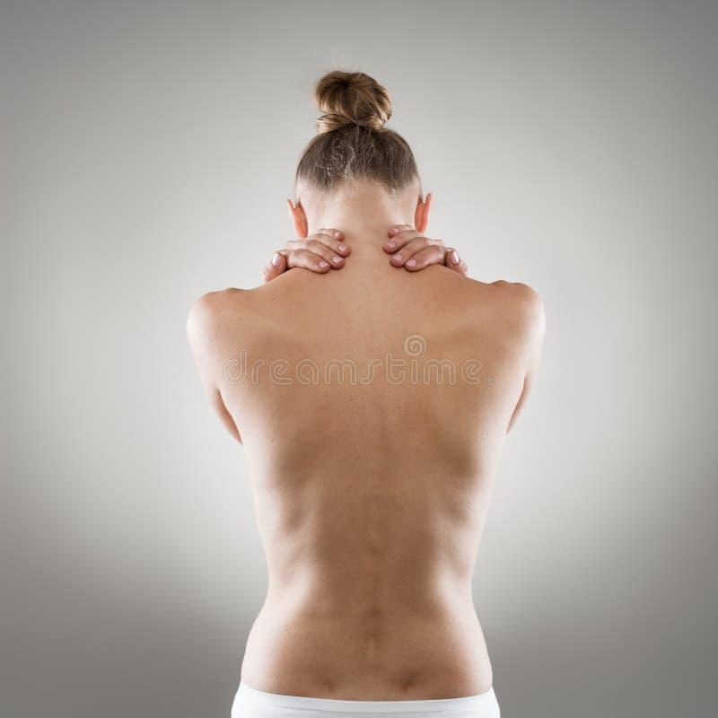 Боль женщины стоковое изображение