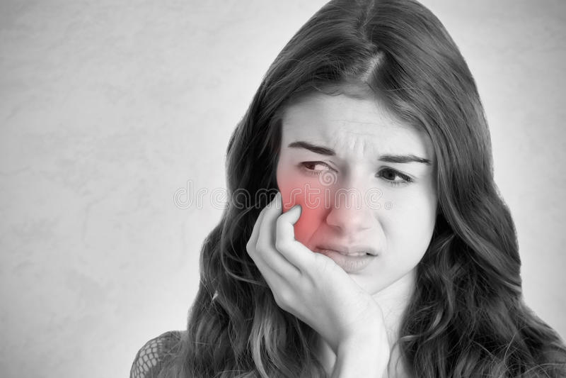 Боль зуба стоковое изображение rf