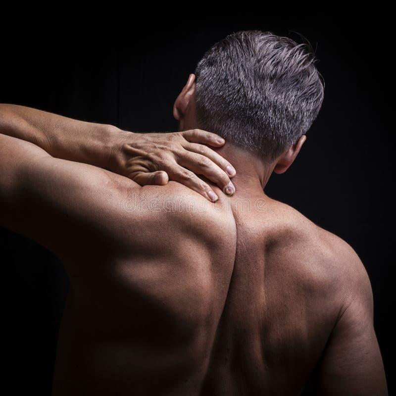 Боль шеи стоковое фото rf