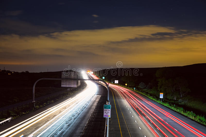 Больдэр к майне шоссе 36 Денвера срочной стоковое изображение rf