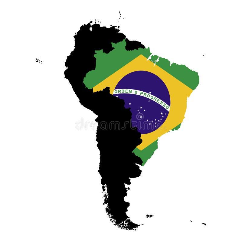 Бразилии Серая предпосылка также вектор иллюстрации притяжки corel иллюстрация штока