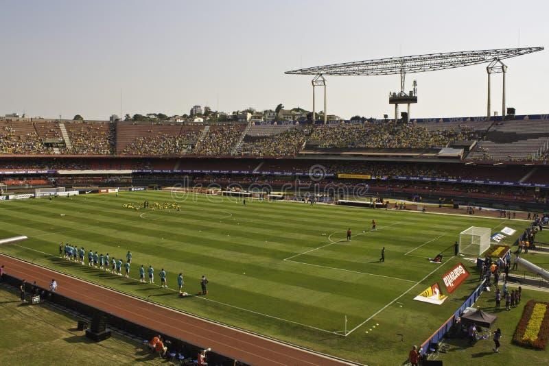 Бразилия 1x0 Южная Африка - São Paulo - Бразилия стоковые изображения rf