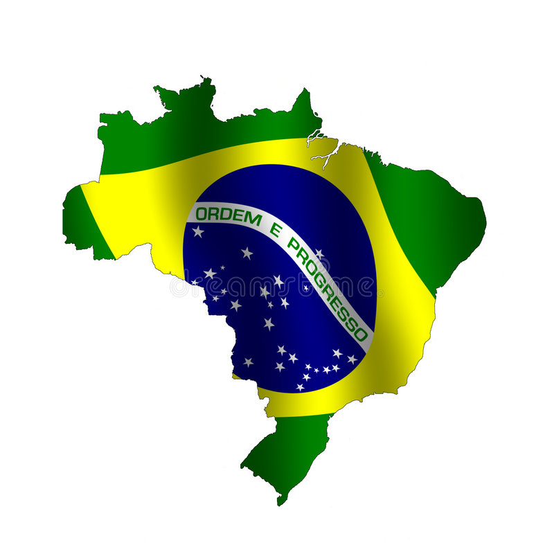 Бразилия иллюстрация вектора