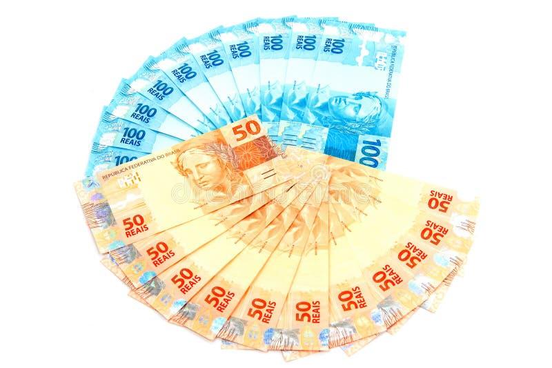 бразильские деньги новые стоковое фото rf