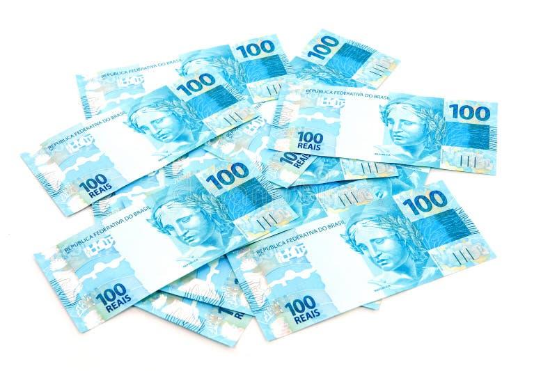 бразильские деньги новые стоковые изображения rf