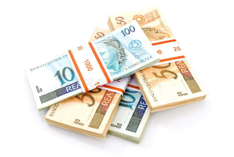 бразильские деньги стоковая фотография rf