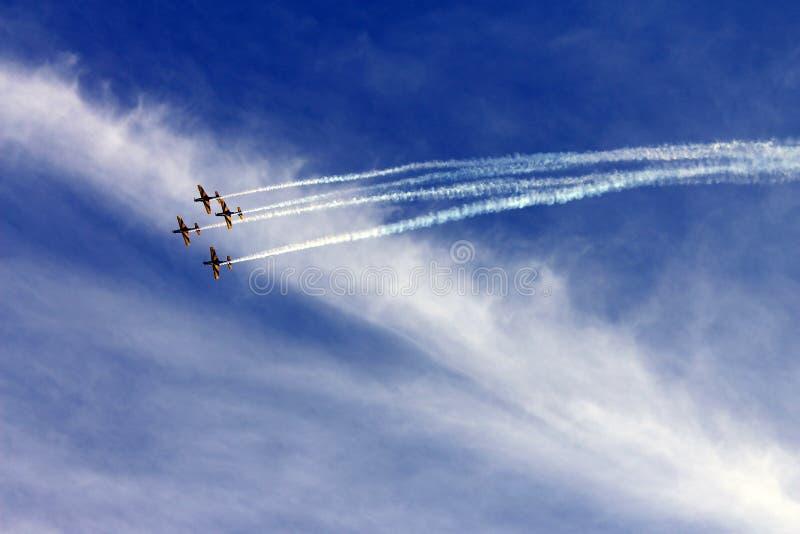 Бразильский авиаотряд дыма стоковое фото