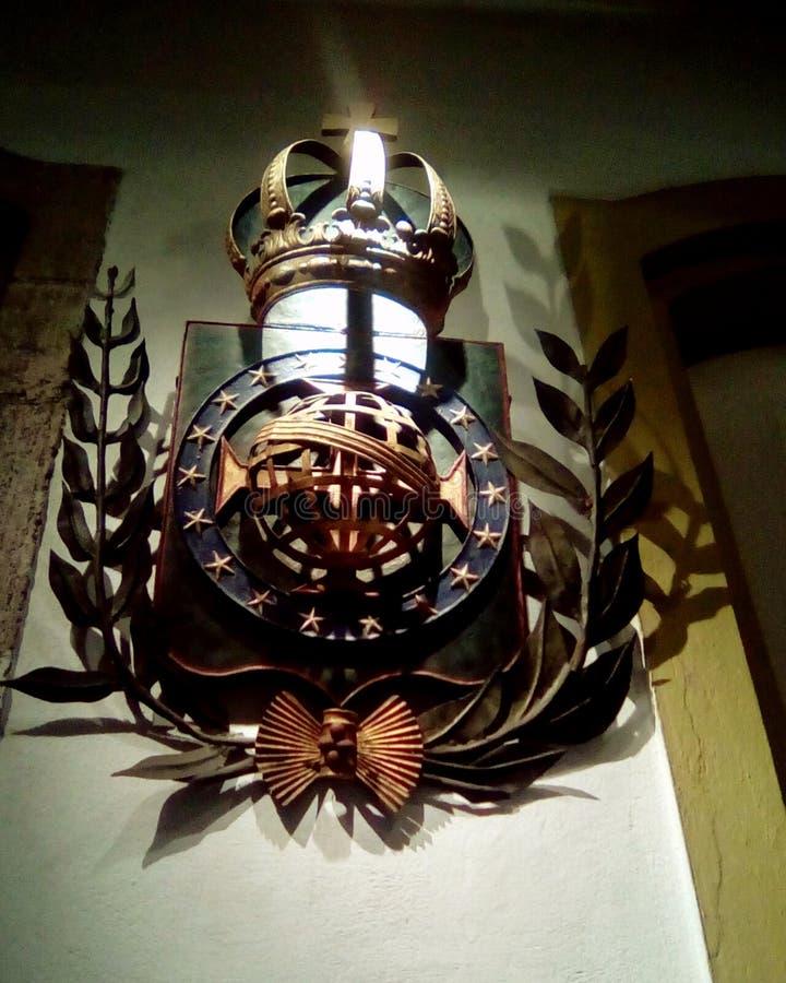 Бразильский инициал скульптуры герба стоковая фотография