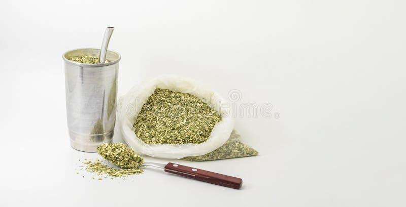 Бразильский напиток терере стоковая фотография