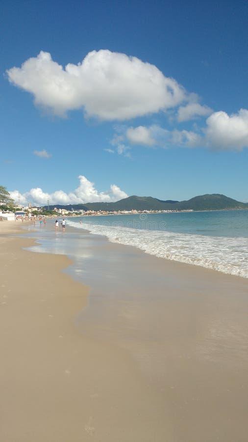 Бразильский пляж в летнем времени стоковые фотографии rf