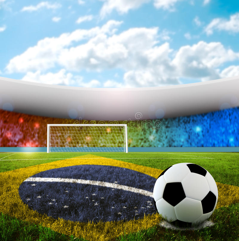 бразильский футбол стоковые фотографии rf