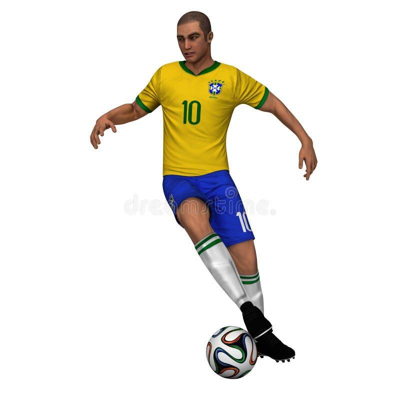 Бразилия - футболист стоковое изображение
