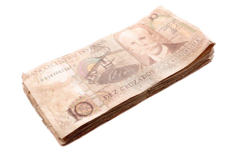 бразильские деньги старые стоковые фото