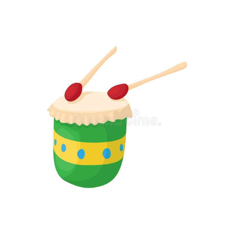 Бразильский значок барабанчика, стиль шаржа иллюстрация вектора