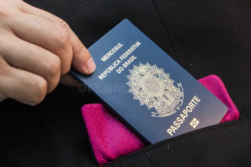 Бразильский пасспорт стоковые фотографии rf