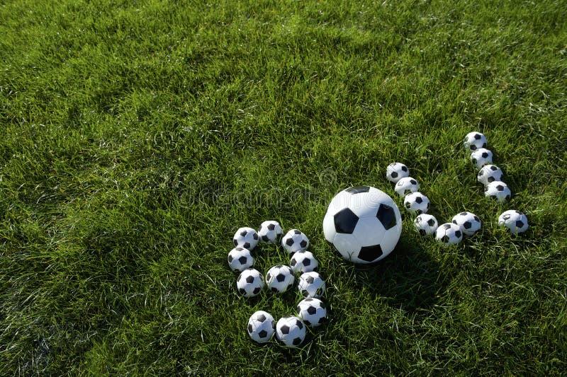 Бразильское сообщение цели футбола сделанное с футболами стоковые изображения rf