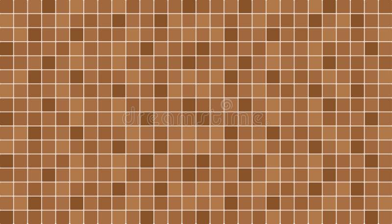 Брайн и бежевые керамические плитки пола и стены абстрактный вектор предпосылки иллюстрация вектора