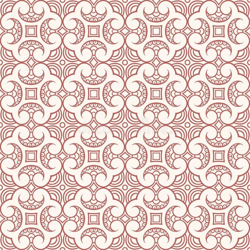 Брайн и бежевый цветочный узор иллюстрация вектора