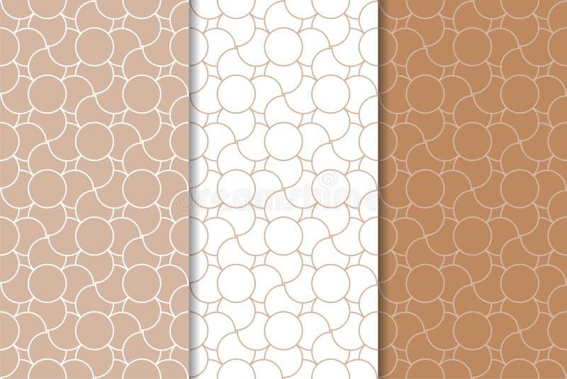 Брайн и белые геометрические орнаменты делает по образцу безшовный комплект бесплатная иллюстрация