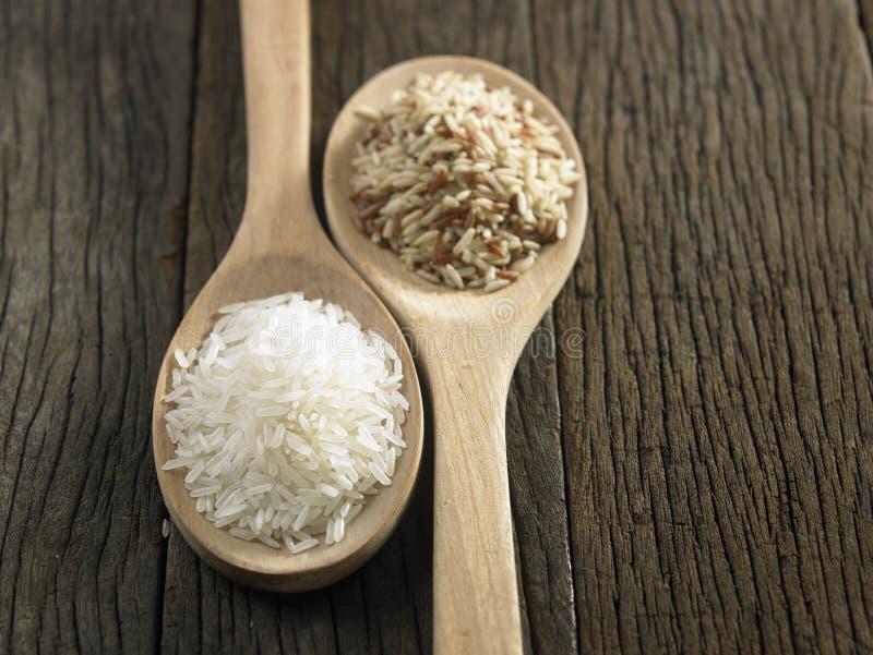 Брайн и белый рис стоковая фотография rf