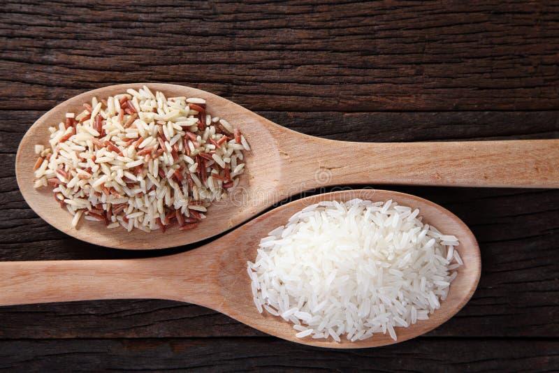 Брайн и белый рис стоковое изображение rf
