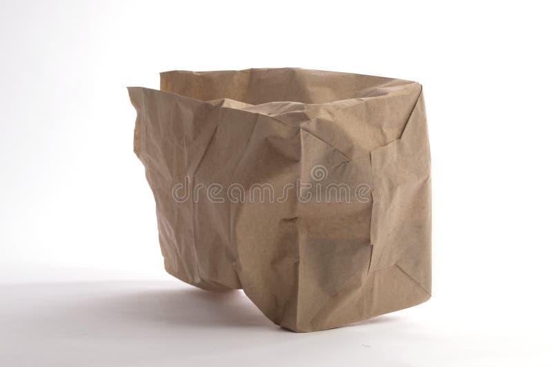 Брайн скомкал взгляд бумажной сумки нижний стоковые изображения rf