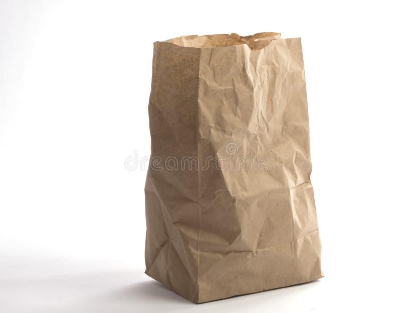 Брайн скомкал взгляд бумажной сумки нижний стоковое изображение rf
