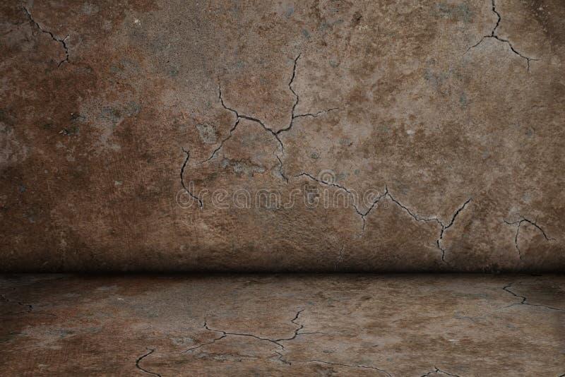 Брайн треснул текстуру комнаты стоковое фото