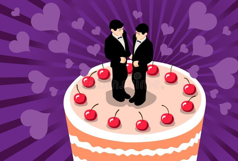брак гомосексуалистов иллюстрация штока