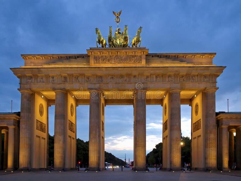 Бранденбургские ворота в Берлине, Германии стоковое фото rf