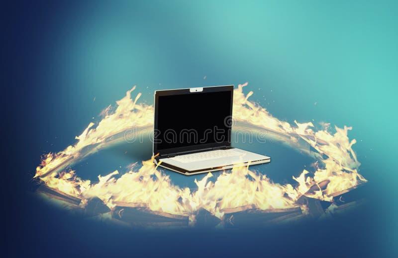 Брандмауэр ноутбука стоковая фотография