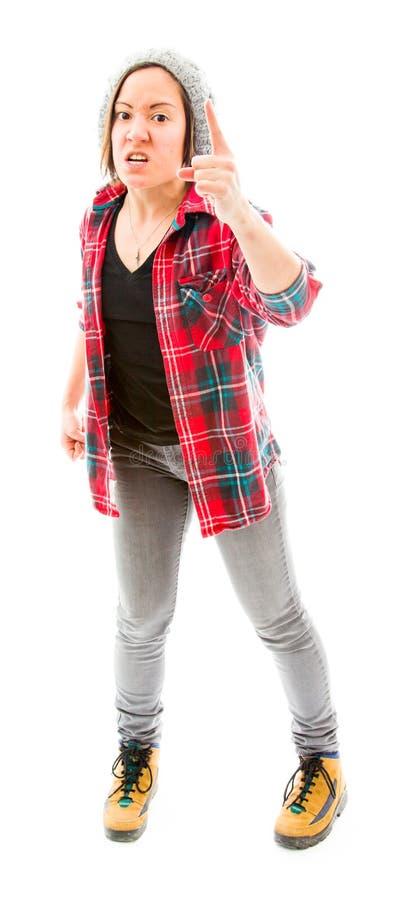 Download Бранить молодой женщины стоковое фото. изображение насчитывающей портрет - 41651902