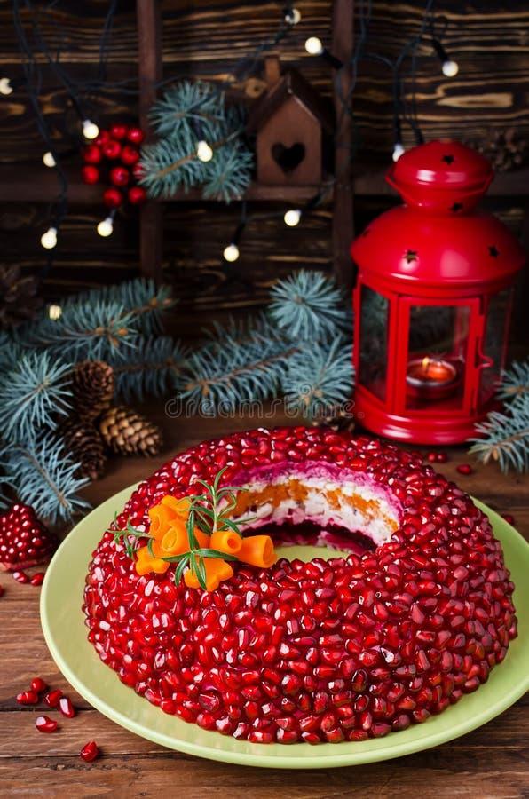 Браслет венисы салата на таблице праздника стоковые изображения
