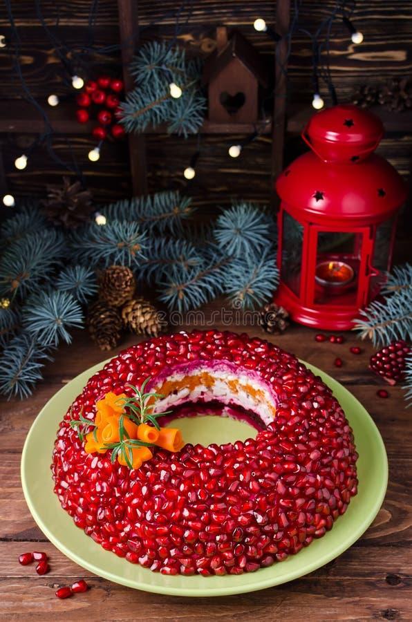 Браслет венисы салата на таблице праздника стоковая фотография