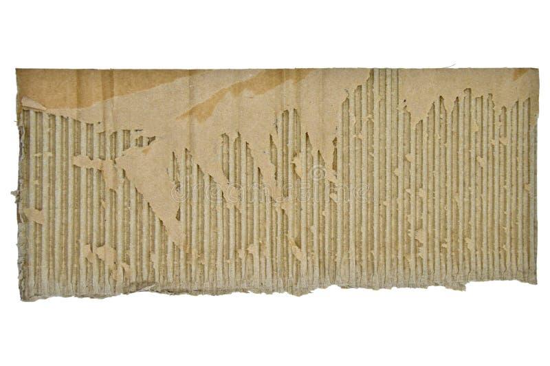 Браун и бежевый покрашенный рифленый картон Грубый, перевозка стоковое изображение