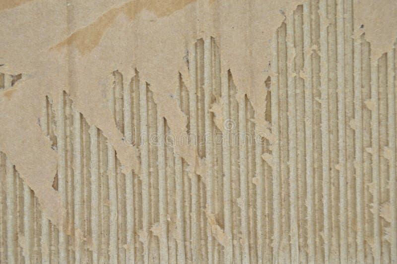 Браун и бежевый покрашенный рифленый картон Грубый, перевозка стоковое фото