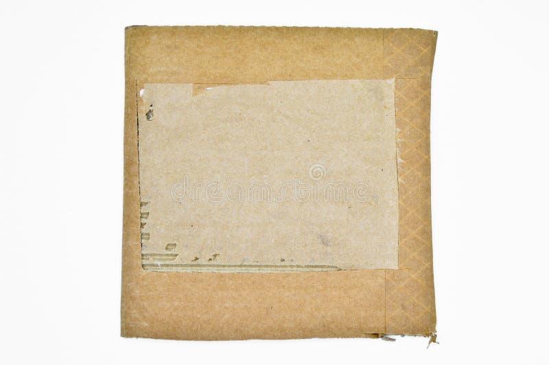 Браун и бежевый покрашенный рифленый картон Грубый, перевозка стоковые изображения