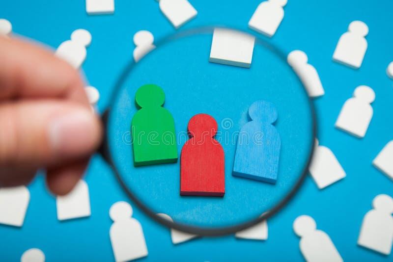 Бренд карьеры, возможность трудоустройства Молодые разнообразные люди стоковая фотография rf