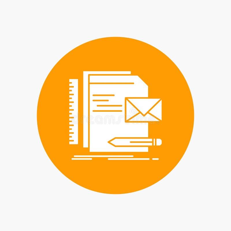 Бренд, компания, идентичность, письмо, значок глифа представления белый в круге r иллюстрация штока