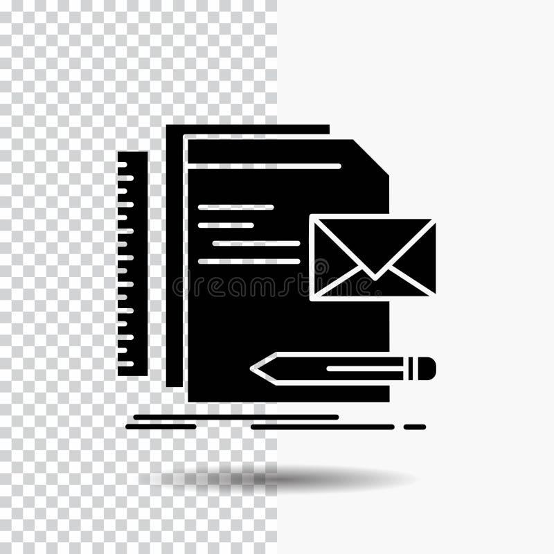 Бренд, компания, идентичность, письмо, значок глифа представления на прозрачной предпосылке r иллюстрация штока