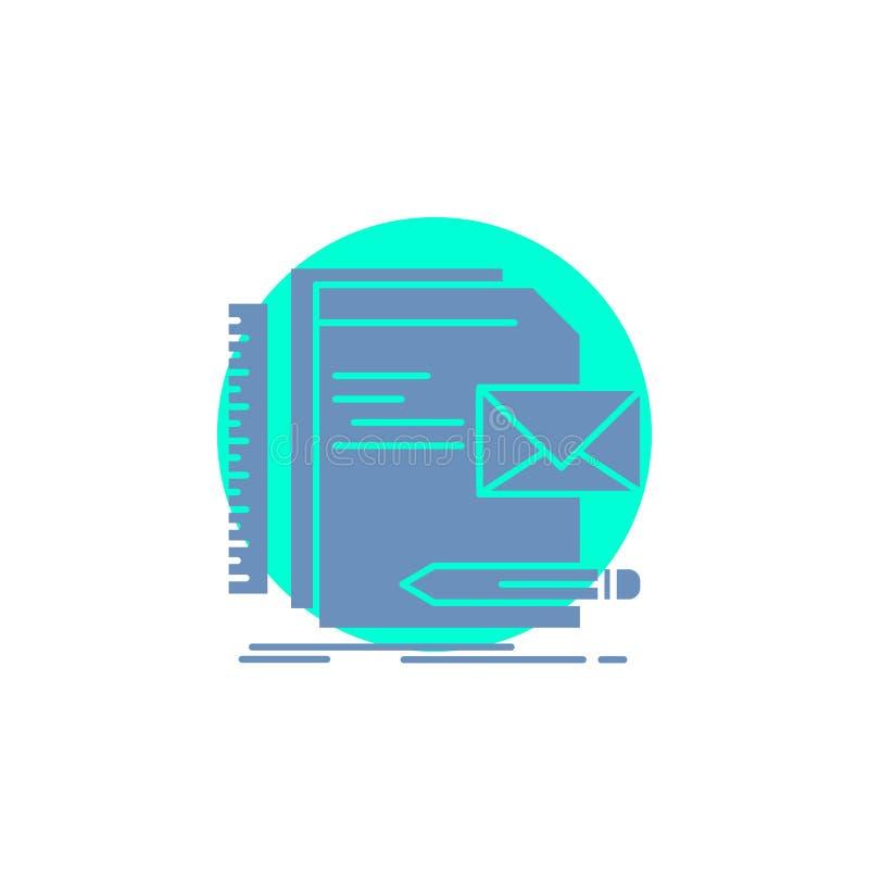 Бренд, компания, идентичность, письмо, значок глифа представления бесплатная иллюстрация
