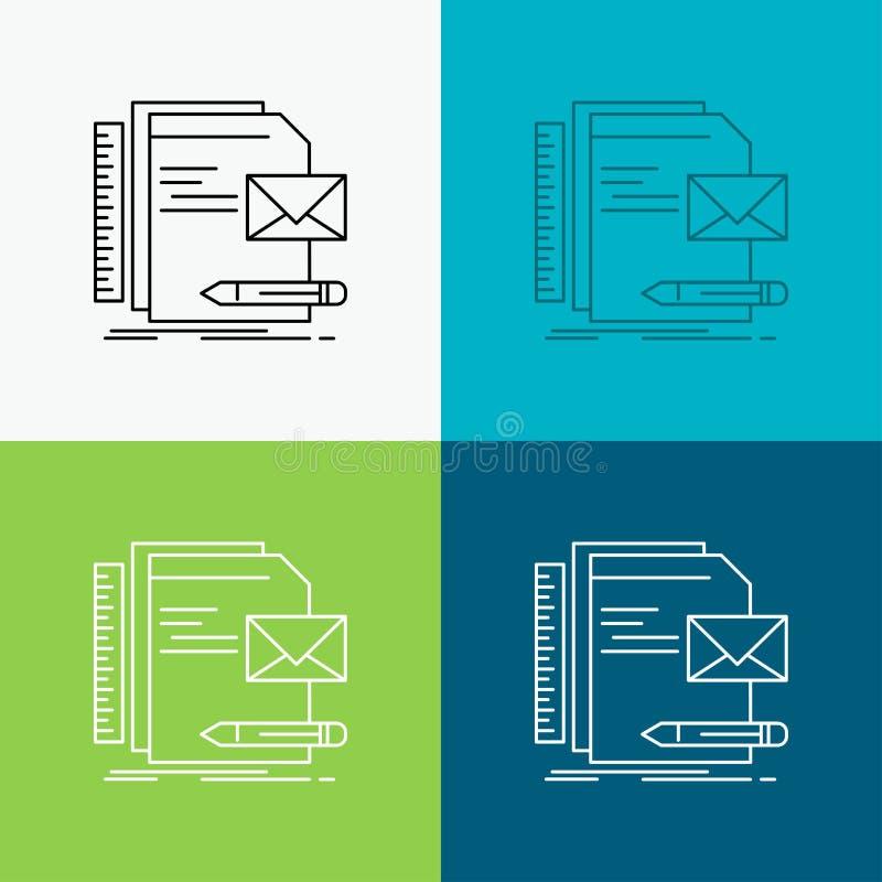 Бренд, компания, идентичность, письмо, значок представления над различной предпосылкой r 10 eps иллюстрация вектора