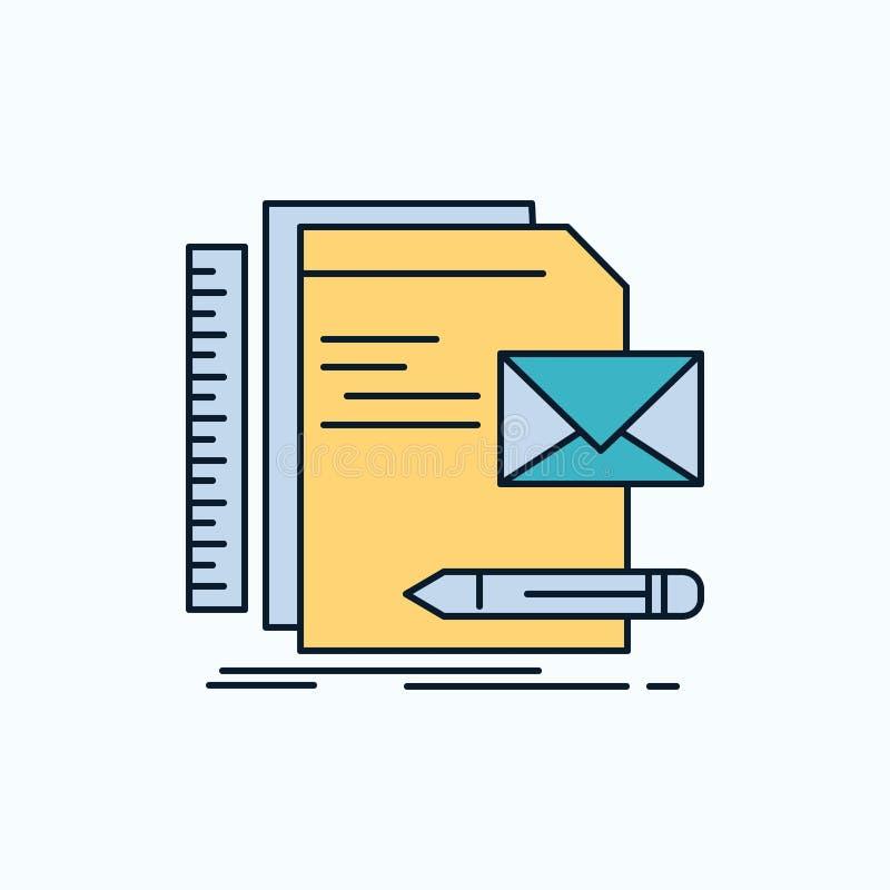 Бренд, компания, идентичность, письмо, значок представления плоский r иллюстрация вектора
