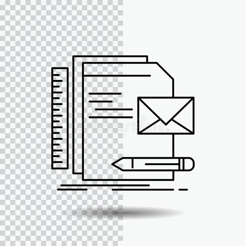 Бренд, компания, идентичность, письмо, линия значок представления на прозрачной предпосылке r бесплатная иллюстрация