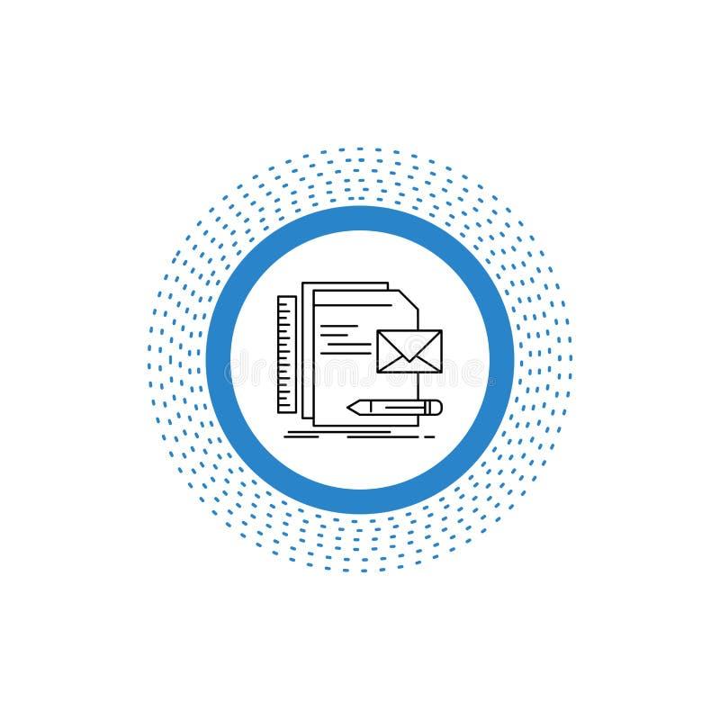 Бренд, компания, идентичность, письмо, линия значок представления r бесплатная иллюстрация