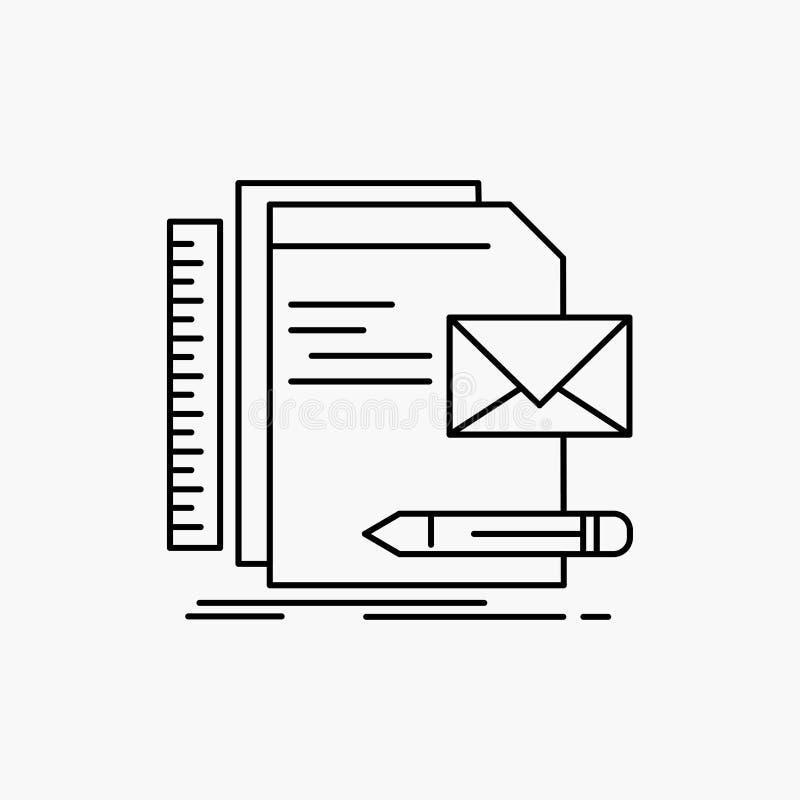Бренд, компания, идентичность, письмо, линия значок представления r иллюстрация вектора