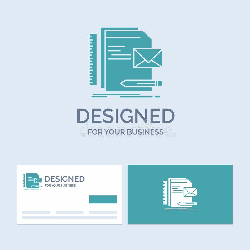 Бренд, компания, идентичность, письмо, символ значка глифа логотипа дела представления для вашего дела r иллюстрация штока