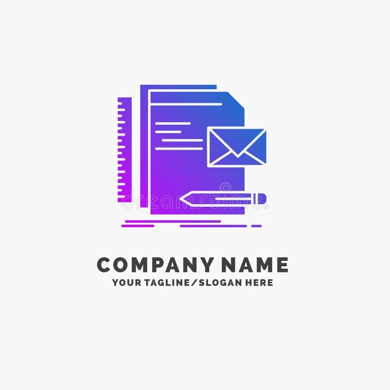 Бренд, компания, идентичность, письмо, шаблон логотипа дела представления пурпурный r иллюстрация штока