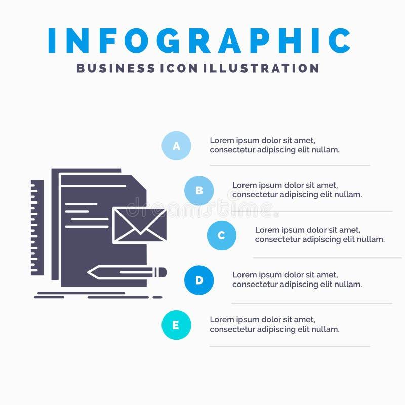 Бренд, компания, идентичность, письмо, шаблон Infographics представления для вебсайта и представление r иллюстрация вектора